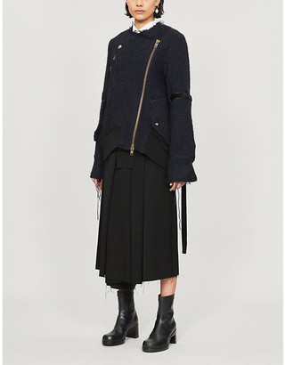 Song For The Mute Frayed wool-blend jacket