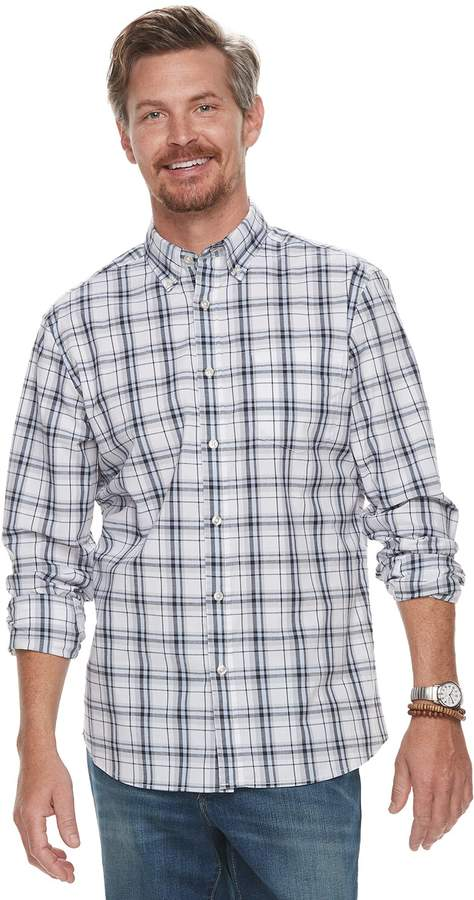 9c603976c6 Sonoma Mens Button Front Plaid Shirts - ShopStyle