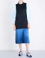 Toga Ladies Black Avant garde Sleeveless Satin Dress