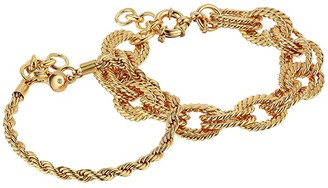 J.Crew Lasso Chain Bracelet (Burnished Gold) Bracelet
