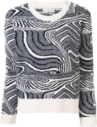 Pierre Louis Mascia Zebra Pattern Virgin Wool Jumper