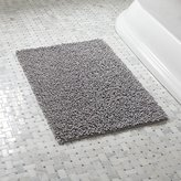 Crate & Barrel Loop Light Grey Bath Rug