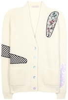 Christopher Kane Embellished mohair-blend cardigan