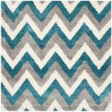 Safavieh Kids® Zigzag 6-Foot 7-Inch Square Shag Area Rug in Ivory/Blue