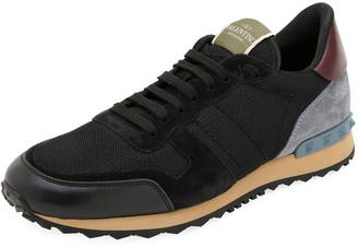 Valentino Garavani Men's Rockrunner Solid Trainer Sneakers