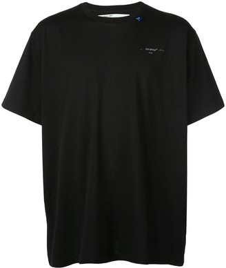 Off-White geometric arrow unfinished s/s T-shirt
