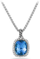 Noblesse Pendant with Blue Topaz and Diamonds on Chain