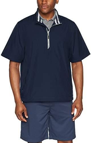 Cutter & Buck Men's Water Resistant Twill Nine Iron Half Zip Lightweight Jacket