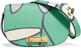 Marni Printed textured-leather shoulder bag