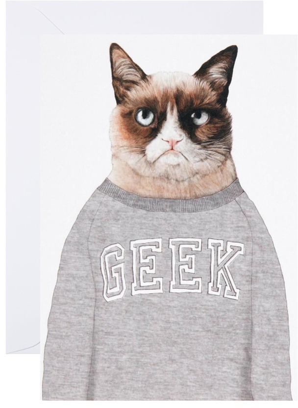 Ohh Deer Grumpy Cat Greeting Card