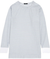 Bassike Striped Cotton-blend Top - Sky blue