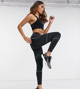 Asos 4505 Petite high waist legging with reflective stitching