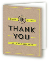 Minted Poster Type Thank You Cards