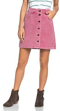 Roxy Button-Front Corduroy Skirt