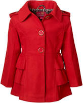 Pink Platinum Red Hooded Peacoat - Infant, Toddler & Girls