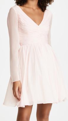 Giambattista Valli V Neck Long Sleeve Mini Dress