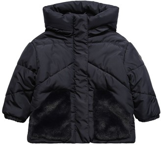 Il Gufo Hooded Nylon Down Jacket W/ Faux Fur