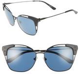 Tory Burch Women's 56Mm Cat Eye Sunglasses - Gold/ Blue Mosaic