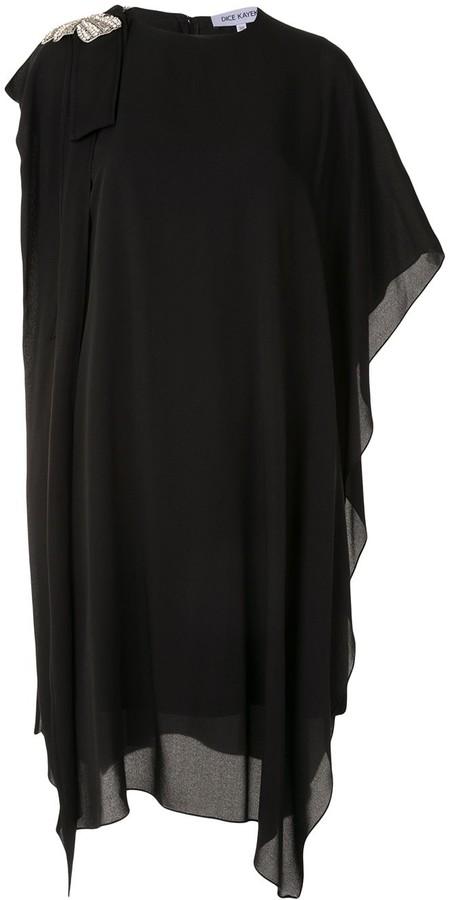 Dice Kayek Crystal-Embellished Draped Dress
