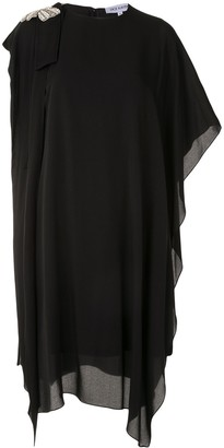 Dice Kayek Crystal-Embellished Draped Dress