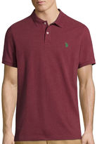 U.S. Polo Assn. USPA Heather Piqu Polo