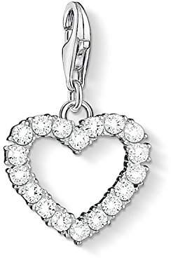 Thomas Sabo Women Charm Pendant Romantic Heart 925 Sterling Silver 1482-051-14
