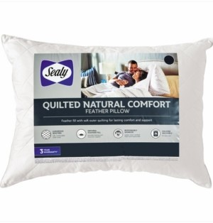 Sealy Quilted Natural Comfort Feather Standard/Queen Pillow