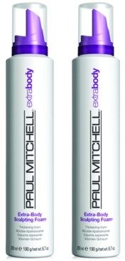 Paul Mitchell Extra-Body Sculpting Foam Duo (Two Items), 6.7-oz, from Purebeauty Salon & Spa