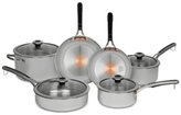 Revere Copper Confidence CoreTM 10-Pc. Stainless Steel Cookware Set