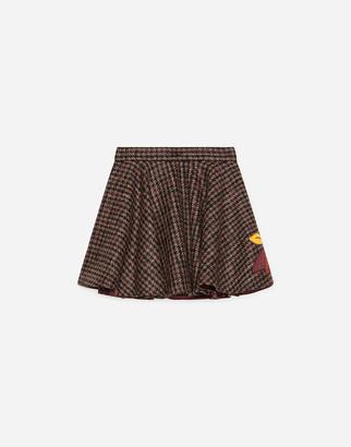 Dolce & Gabbana Short Houndstooth Skirt