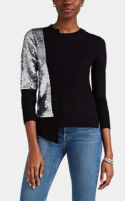 Osman Women's Adams Sequined Wool-Cashmere Sweater - Black