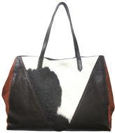 Sondra Roberts Leather & Calf Hair Tote