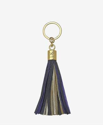 GiGi New York Tassel Key Chain In Navy And Gold