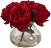 Asstd National Brand Nearly Natural Fancy Rose With Vase