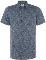 Paul Smith Men's Short sleeve marble print shirt