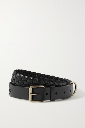 Andersons Woven Leather Belt - Black