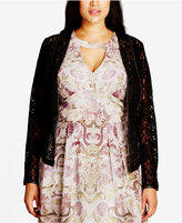 City Chic Trendy Plus Size Lace Jacket