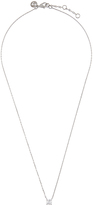 Accessorize Platinum Bling Solitaire Pendant Necklace
