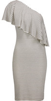 Kain Label Hadley One-Shoulder Striped Ribbed Stretch-Modal Dress