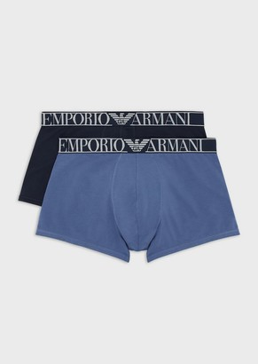 Emporio Armani Two-Pack Of Boxer Briefs With Logo Waistband