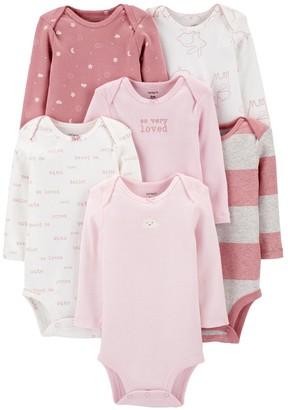 Carter's Baby Girl 6-Pack Long-Sleeve Original Bodysuits