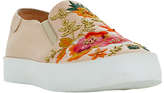 Dune Evanni Embroidered Slip On Trainers