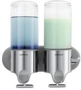 Simplehuman Bath Accessories, Twin Shampoo and Soap Dispenser