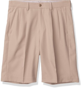 Louis Raphael Men's Pleated Performance Soil Wicking Golf Short