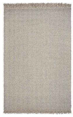 Hogan Gracie Oaks Herringbone Hand-Woven Wool Oatmeal Area Rug Gracie Oaks Rug Size: Rectangle 5' x 8'