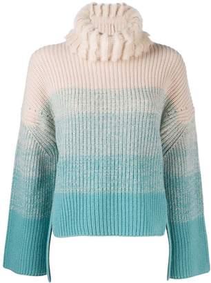 Fendi gradient roll neck jumper
