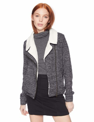 O'Neill Women's Latte Zip Fleece with Sherpa Collar