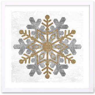 FLAKE Wynwood Studio 'Snow Gold' Framed Art