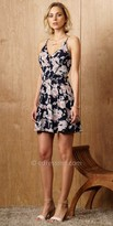 Greylin Floral Strappy V-Neck Dress