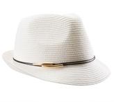 Pia Rossini Calypso Straw Fedora Hat 8160934